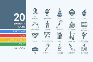 20 birthday icons