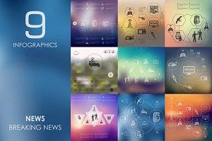 9 news infographics