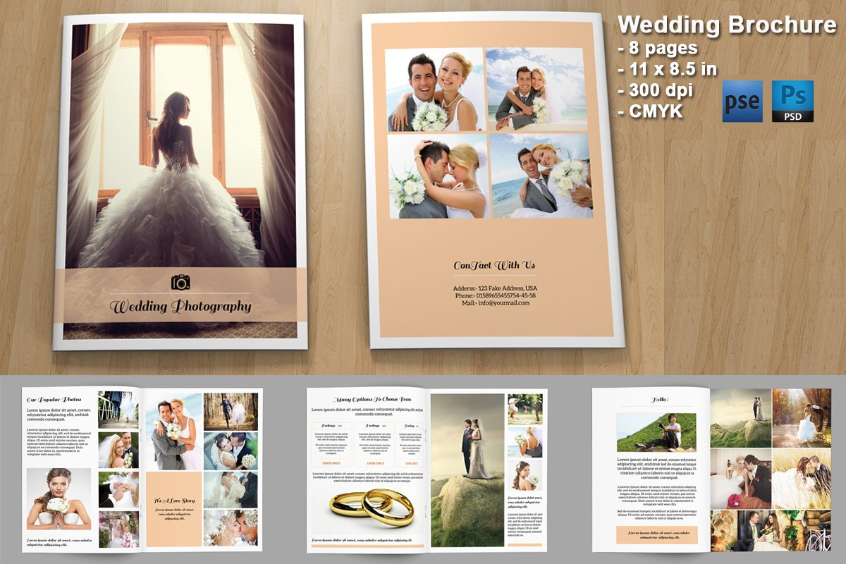 wedding brochure templates - wedding photography brochure v328 brochure templates