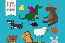 Vector Toys Animals