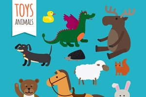Vector Toys Animals