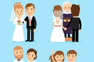 Wedding people vector