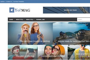 Yo Mag Magazine blogger template