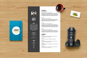 Grey - Resume template Photoshop