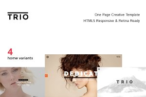 TRIO - One Page Creative Template