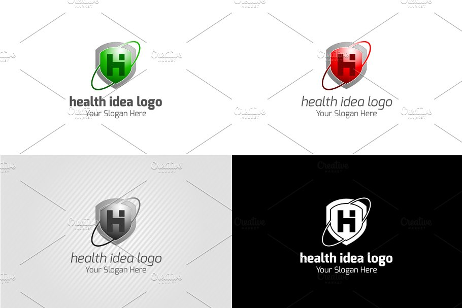 Health Idea Logo in Logo Templates - product preview 4