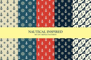 Set of 5 Nautical Inspired Patterns