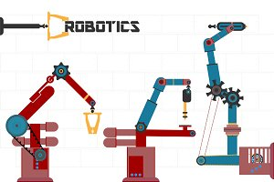 Robots. Vector
