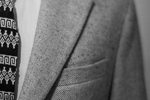 details of men's suit