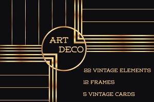 37 Art Deco Design Elements Vol.1