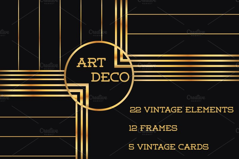 37 art deco design elements vol 1 illustrations for Art deco interior design elements
