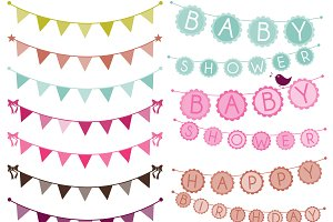 Bunting Photoshop Brushes
