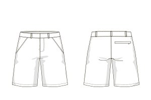 Men's Shorts Fashion Flat Template