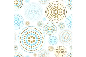 circles abstract seamless pattern