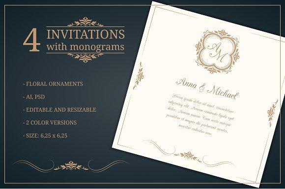 Initial Wedding Invitations: Wedding Invitations With Monograms