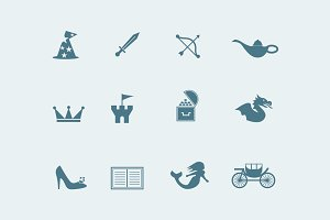 12 Fairy Tale Icons