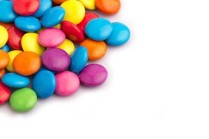 colorful candy chocolate in a group