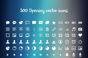 300 Opening vector icons