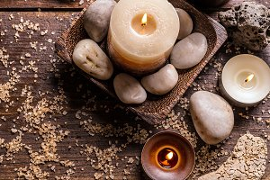 Tranquil spa relaxation setting
