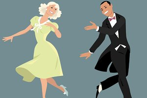 Classy dancing couple