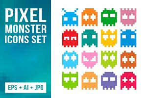 16 Pixel Monster Icons