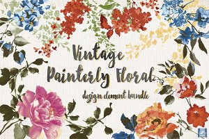 [30%OFF]Vintage Floral Design Bundle
