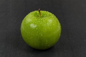 Fresh whole green apple