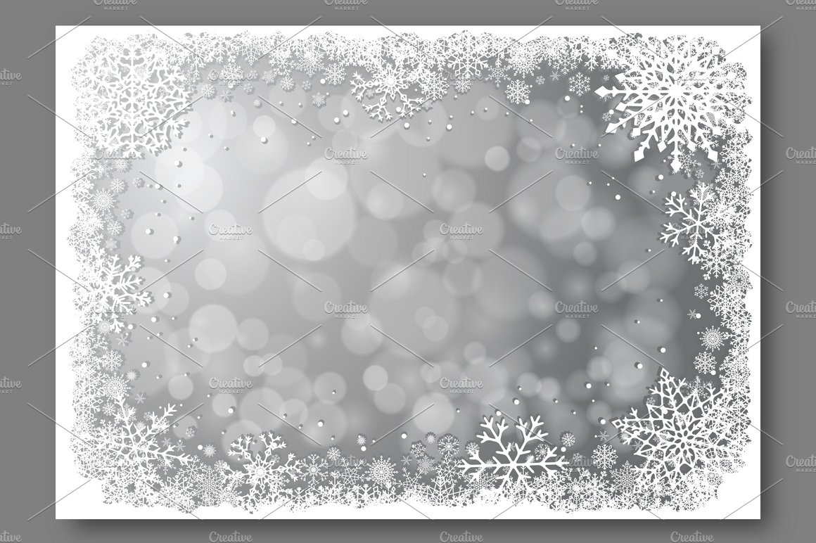 Silver christmas vector background illustrations