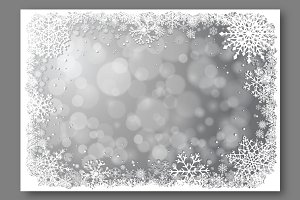 Silver Christmas vector background