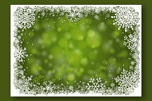 Vector Green Christmas Backgrounds