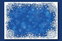 Vector Blue Christmas Backgrounds