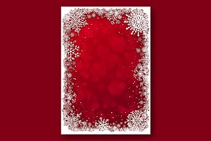 Red Christmas Backgrounds. Vector.