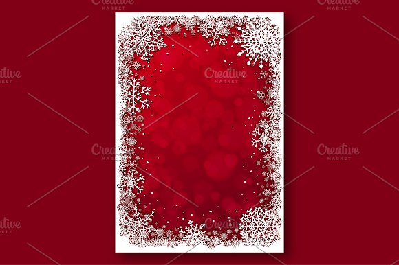 Red Christmas backgrounds. Vector. - Patterns