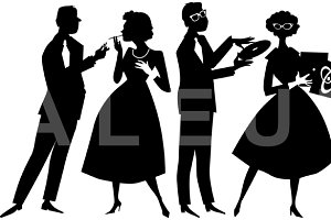 1950s party silhouette