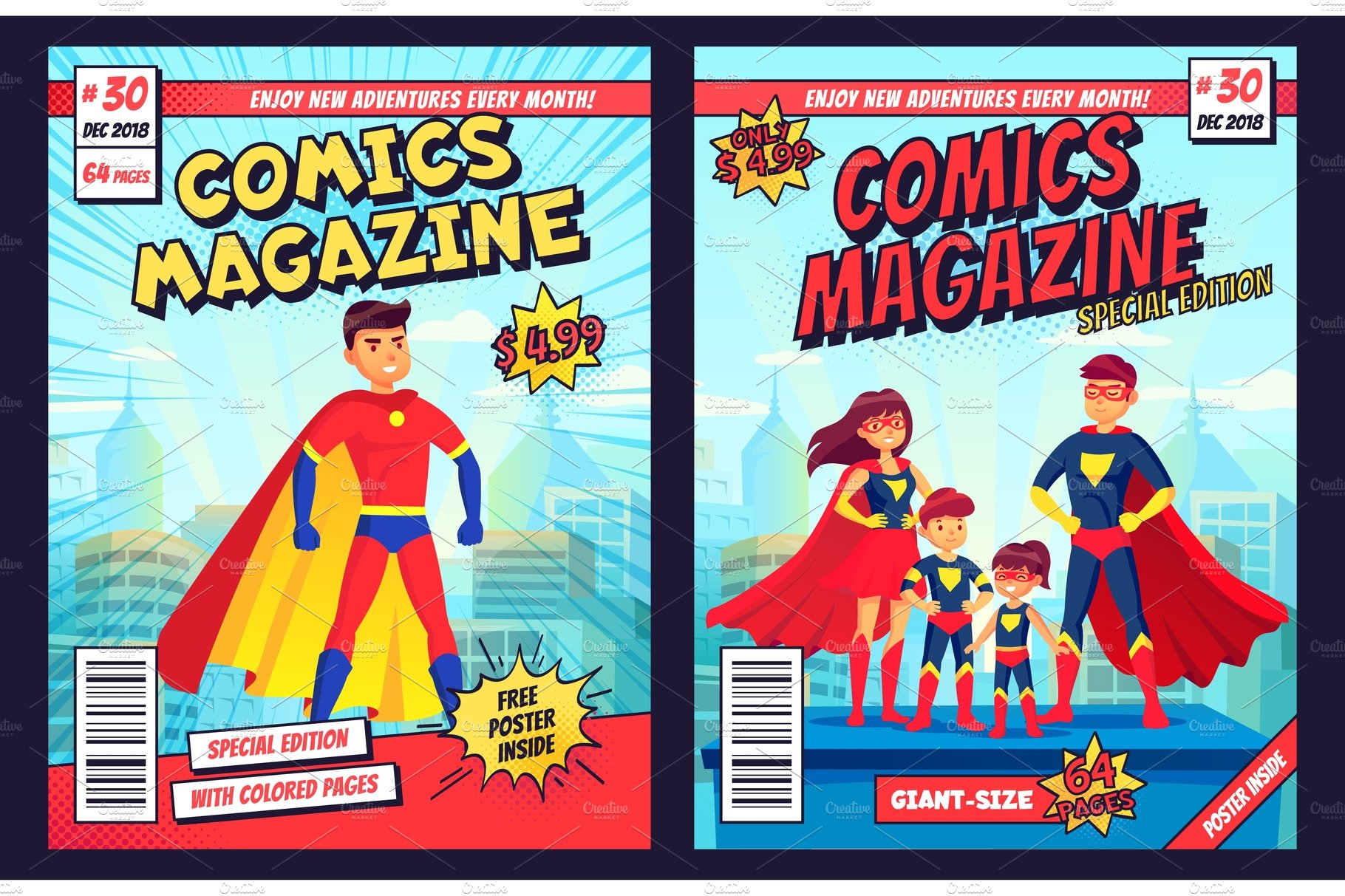 Comic Book Cover Template from images.creativemarket.com