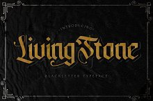 Livingstone - Blackletter Font by  in Fonts