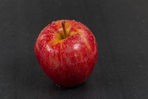 Red Whole Apple on Slate