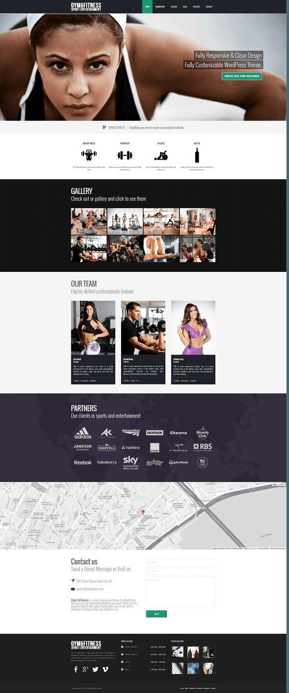 Gym WordPress Theme ~ WordPress Business Themes ~ Creative Market