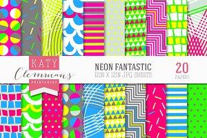 Neon Fantastic paper pack