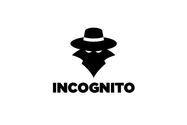 incognito spy silhouette logo creative illustrator templates creative market incognito spy silhouette logo