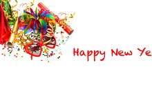 New Year's party decoration banner