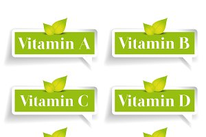 Vitamin label vector set