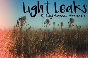 15 Light Leaks Presets