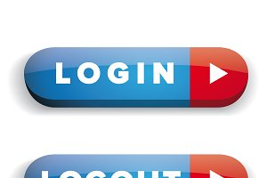 Login Logout vector button