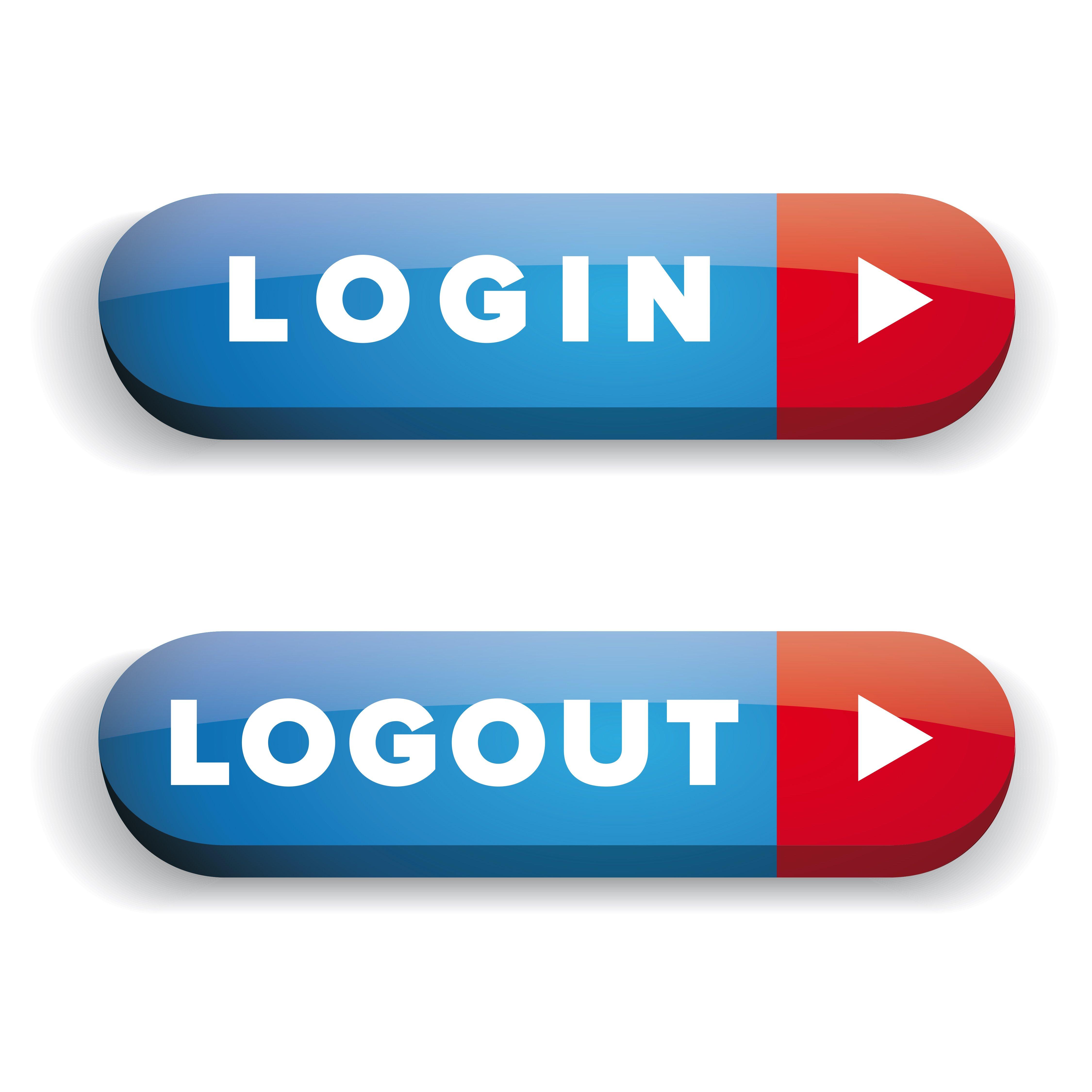 Login Logout vector button ~ Icons ~ Creative Market