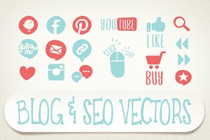 Blog & SEO vector icons
