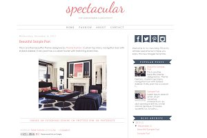 Blogger Template - Spectacular