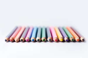Abstract background color pencils