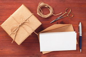 Gift box and letter with accessories