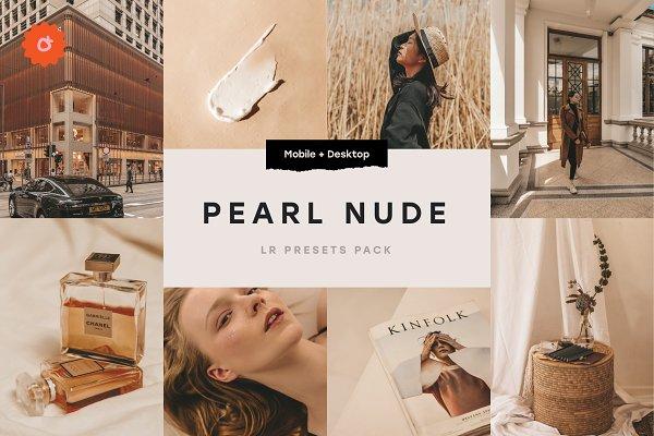 Pearl Nude - 5 Lightroom Presets (DNG, XMP, LR)